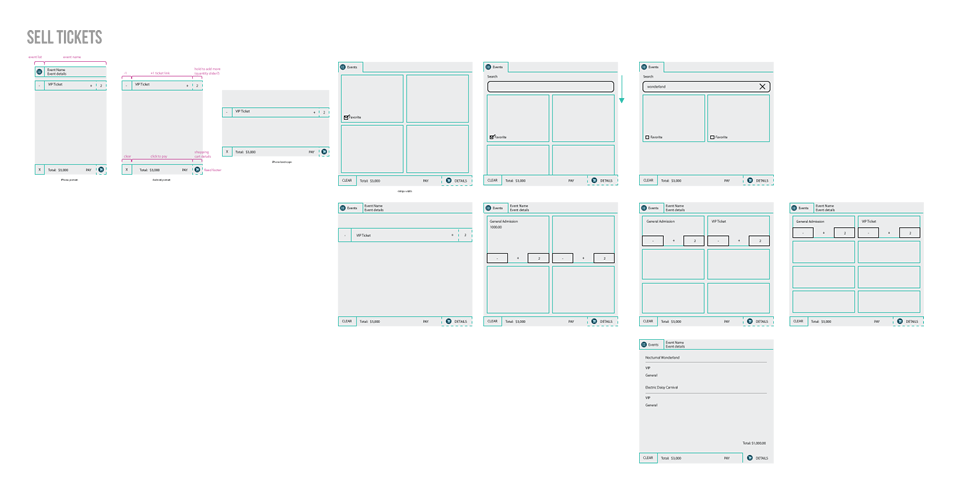 Flavorus Box Office Wireframe