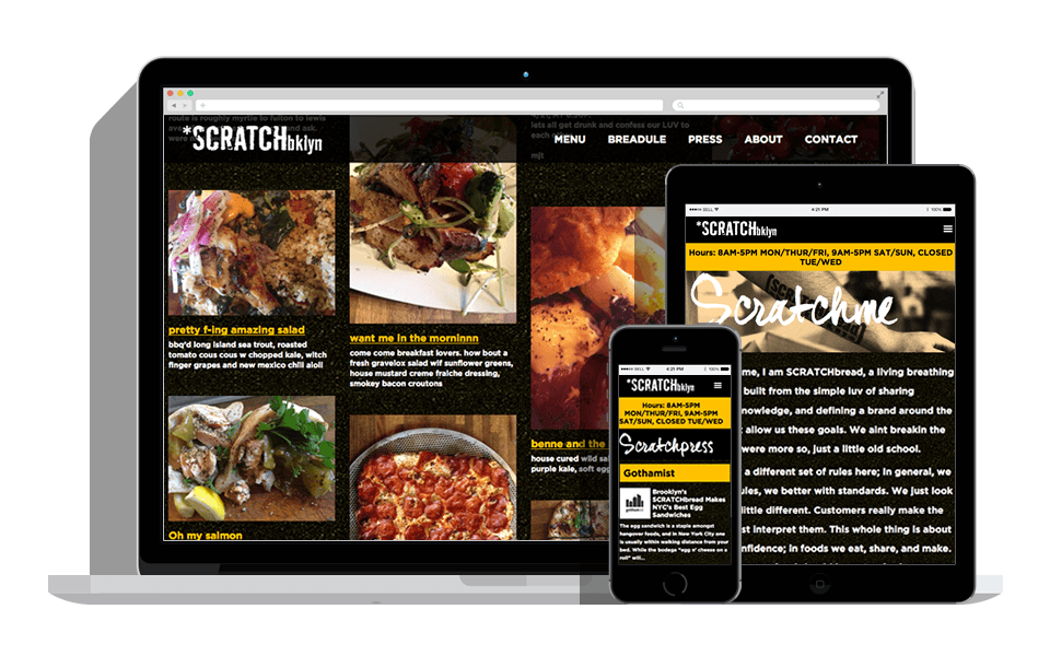 SCRATCHbread Website 1